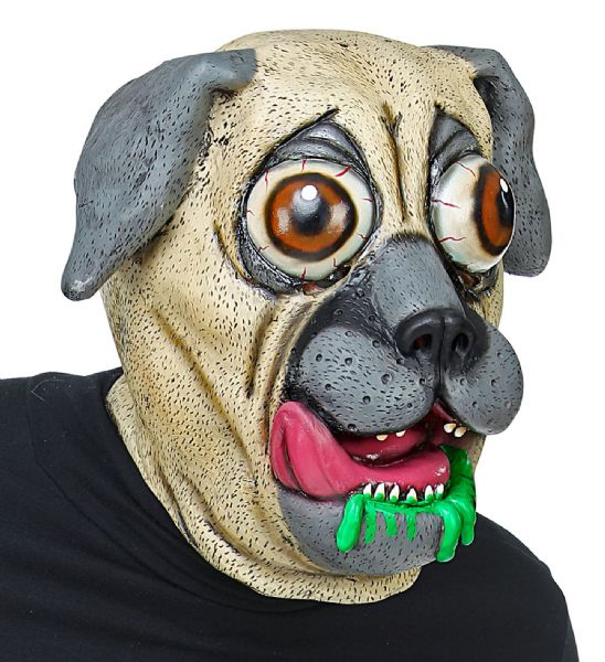 BIG EYES DOG FULL HEAD MASK Latex Mask Funny Fancy Dress
